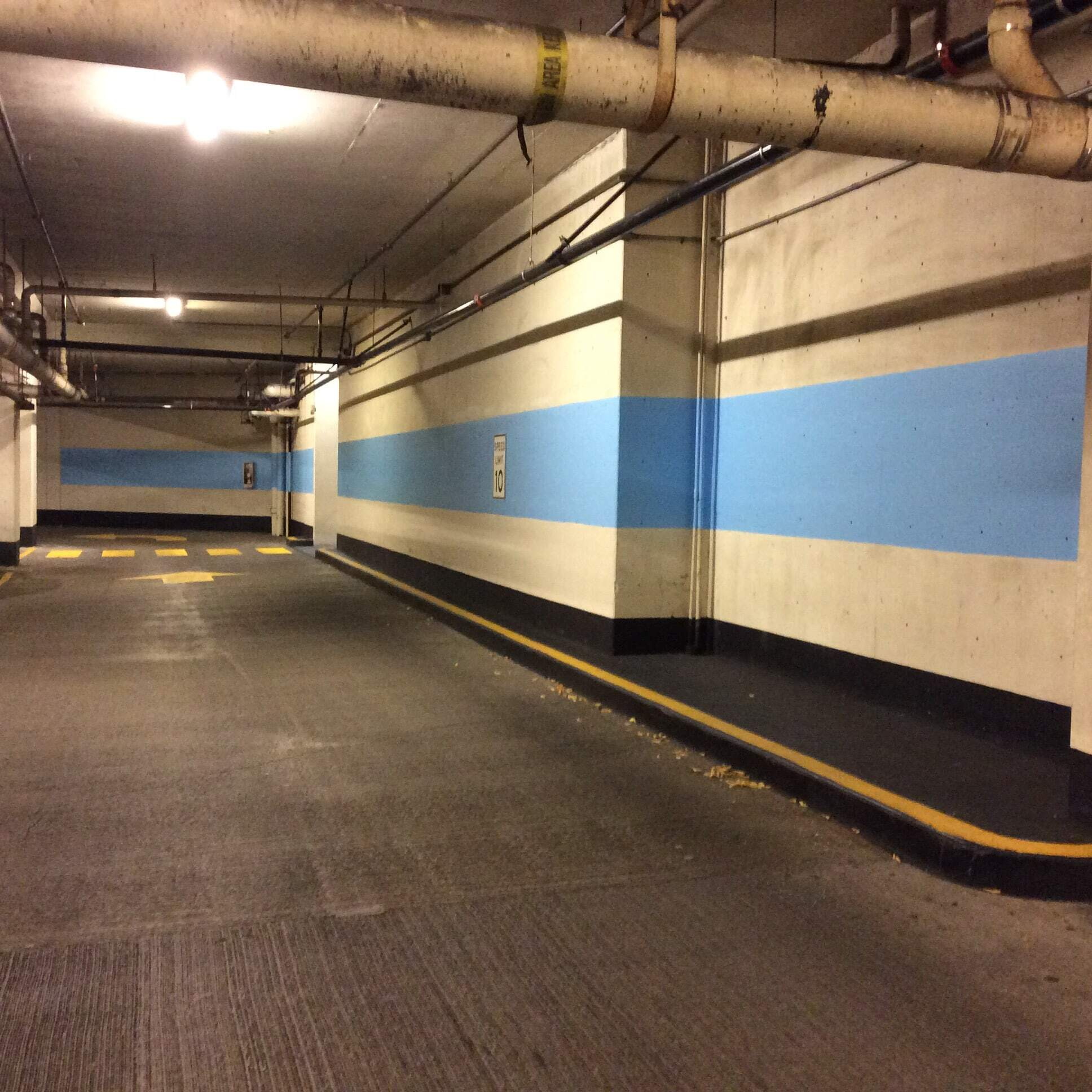 Seattle commercial parking garage painting